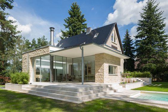 Renovierung / Wohnbauerweiterung: Anbau an ein Einfamilienhaus in Hohen - Neuendorf bei Berlin, Brüch • Kunath Architekten