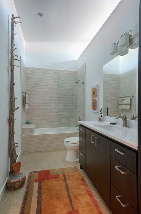 Petite salle de bains avec baignoire douche 27 id es sympas design et interieur for Petite baignoire design