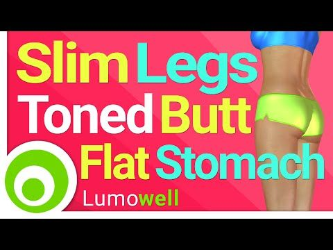 Slim Legs, Toned Butt and Flat Stomach | 25 Minute Workout at Home - YouTube