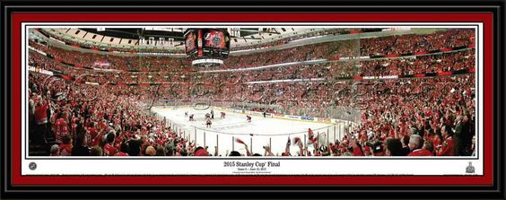 Chicago Blackhawks Game 6 2015 Stanley Cup Goal Framed Print ready to hang.