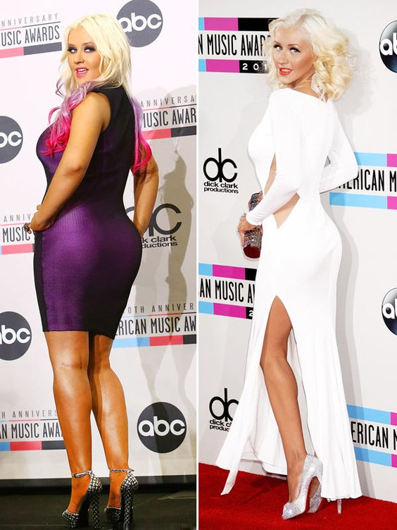 Christina Aguilera Shows Off Shocking Weight Loss At AMAs 1 Year Later
