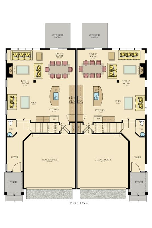 Topaz New Home Plan in Arbor Mist: Arbor Mist - Townhomes by Lennar |  Design ~ Duplex Townhomes | Pinterest | Arbors, Real estate and House