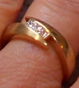 Wedding Band Size 7 Gold & Diamonds  SOLD!!! SOLD!!! SOLD!!!