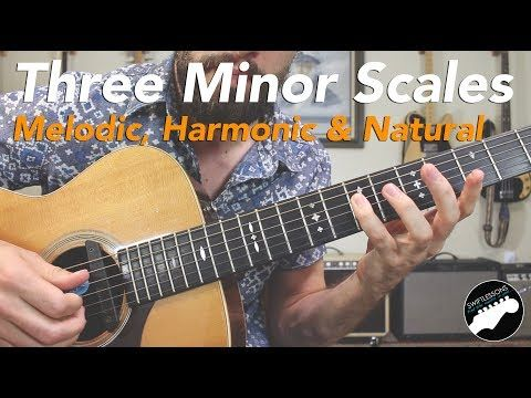 The Three Minor Scales Melodic Harmonic Natural Guitar Licks Lesson Youtube Learn Guitar Acoustic Guitar Lessons Guitar Lessons