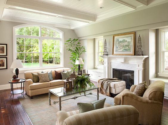 Dutch colonial home the sofa and chairs were purchased at - Colonial style homes interior ...