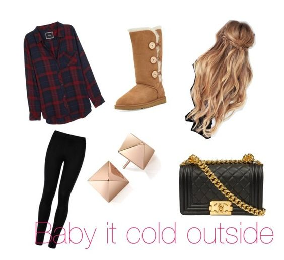 """Winter outfit"" by tyleralayna on Polyvore featuring beauty, Rails, Wolford and UGG Australia"