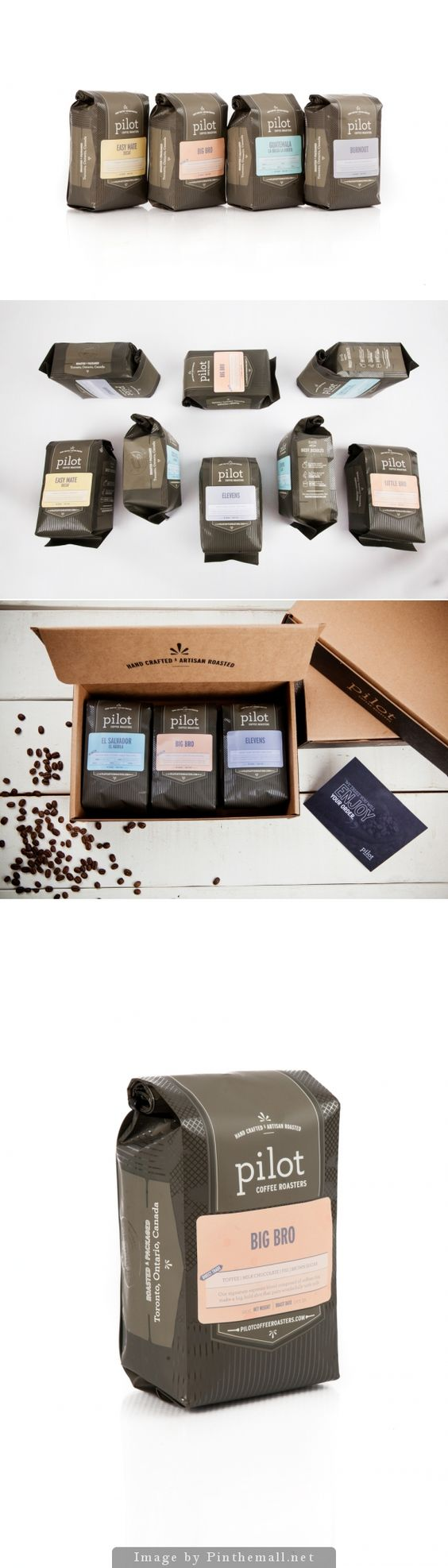 Pilot Coffee packaging - they sell this at the coffee shop by my house, and I never fail to look at it when I go in. The box your order comes in is lovely too