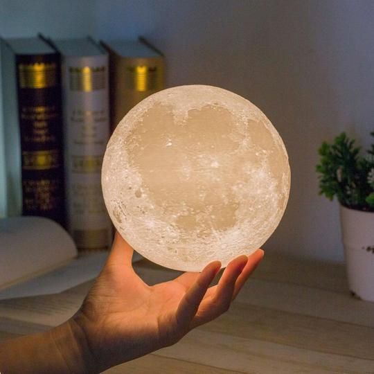 3d Paint Moon Light Lamp 16colors Giftryapp Moon Light Lamp Moon Nightlight Night Light Lamp