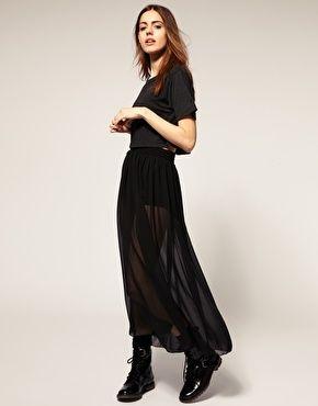 American Apparel Sheer Maxi Skirt: Apparelsheer Maxi, Sheer Maxi Skirt, Shopstyle American, Apparel Sheer, Black Maxi Skirts, Fashion Inspiration, American Apparelsheer, Fashion Women, Shorts Skirts