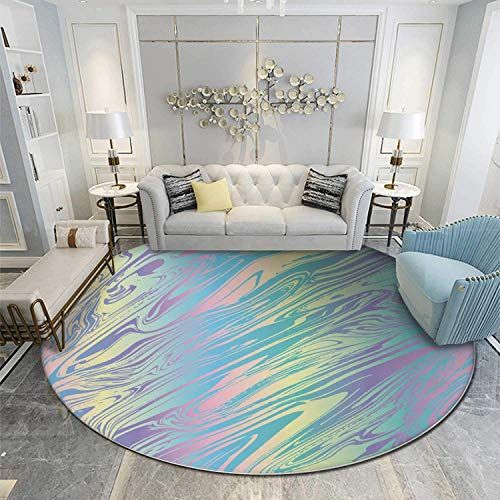 Chic Atokker Liquid Marble Holographic Pearlescent Opalescent Geometric Round Rugs 6ft 6 3 Ft Home Decor 144 99 Topu Round Rugs Home Decor Sectional Chaise