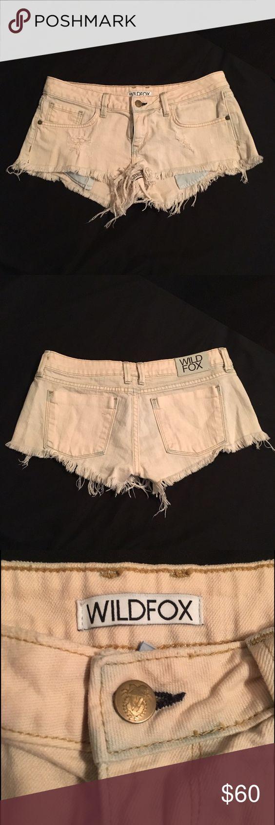 Wildfox Couture Cutoff Shorts Cutoff shorts with a peachy pink wash. Never worn. Wildfox Shorts Jean Shorts