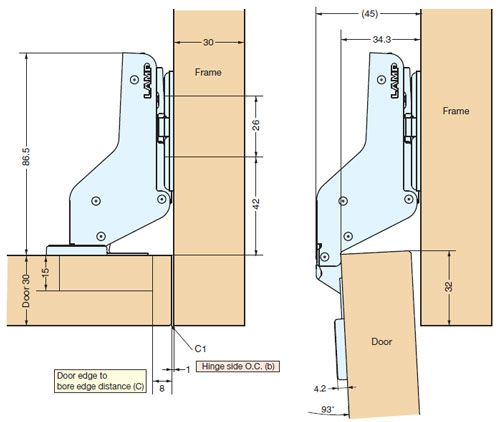 Concealed Hinge On 3 8 Inset Lipped Cabinet Door European Kitchen Cabinets Cabinet Hinges Update Cabinets