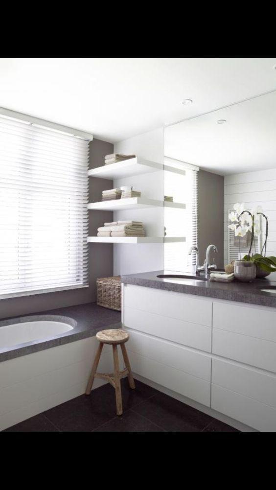 Witte badkamer hout google zoeken haagweg ideeen pinterest google met and search - Witte badkamer ...
