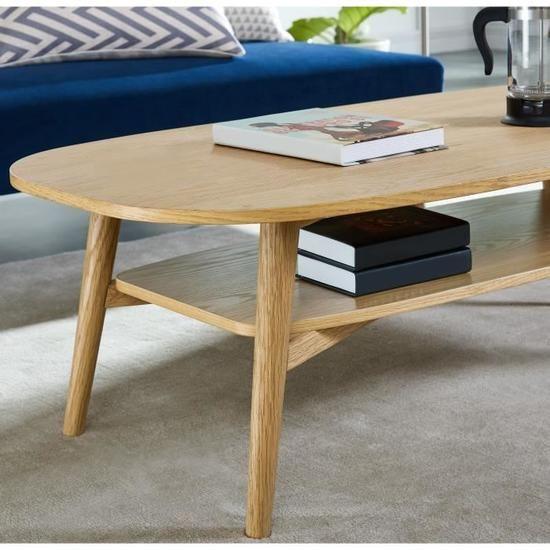 Woody Table Basse Style Contemporain Placage Bois Chene Verni Mat L 120 X L 60 Cm Placage Bois Mobilier De Salon Vernis Mat