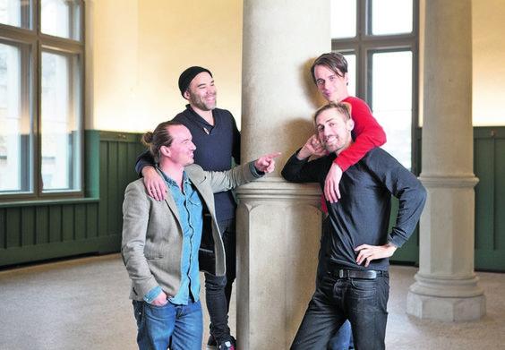 Dieses junge Quartett machte das Rennen: Beni Ott, Simon Leuzinger, Markus Ott (oben) und Basil Nufer (v. l.). Foto: Sabina Bobst