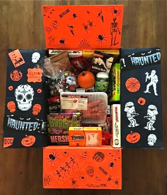 Halloween care package I made for my kid away at college- so much fun to make!