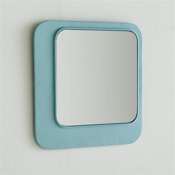 Miroir métal coloré, Iodus La Redoute Interieurs : prix, avis & notation, livraison. Le miroir métal coloré, Iodus : coloris pastels très actuels pour ce miroir carré en métal. Fixation murale verticale ou horizontaleCaractéristiques du miroir métal coloré Iodus :Structure en métal recouvert d'une peinture époxyRetrouvez notre collection de miroirs sur laredoute.fr.Dimensions du miroir métal coloré Iodus :Largeur : 25 cmHauteur : 25 cm.