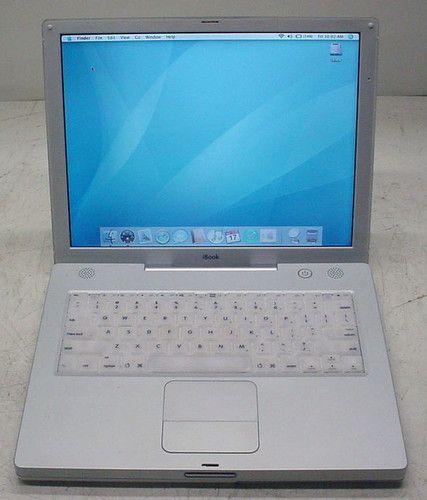 "Apple iBook A1007 G3 800MHz 384MB/40GB/WiFi/DVD-Rom/OSX/14.1"" display 718908454350   eBay"