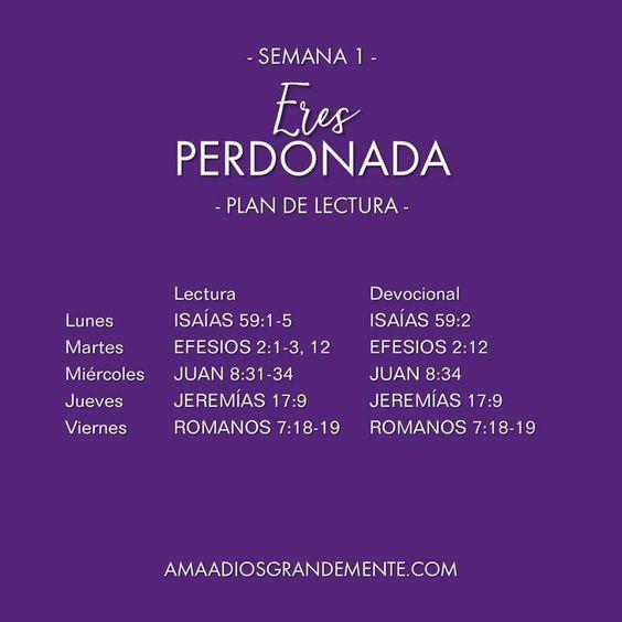 ¡Comenzamos! Nuestro Plan de Lectura para la Semana 1 #AmaaDiosgrandemente #ComunidadADG #Eresperdonada #perdón #LGGEspañol #LGG #Estudiobiblicoenlinea #Devocionalparamujeres #Dios #Biblia