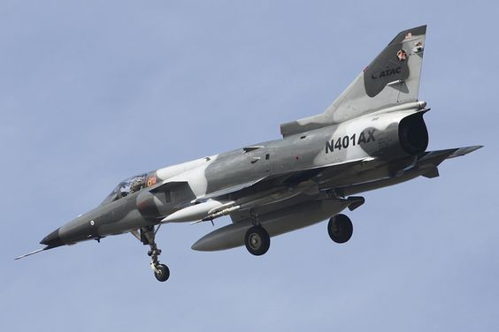 ATAC IAI Kfir N401AX is used against the US Navy and US Marine Corps as an aggressor aircraft in dissimilar air combat training.