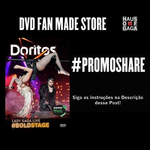 #PROMOSHARE Haus Of Gaga RS Concorra a um DVD Fan Made!Faremos um sorteio do DVD Lady Gaga Live Doritos BoldStage no 13° Encontro de Little Monsters! Para Concorrer, você deve fazer esses 3 passos...1° - Curta a Página DVD Fan Made Store! >> https://www.facebook.com/DVDFanMadeStore 2° - Compartilhe a imagem deste Post no Modo Público >> http://goo.gl/Or560F3° - Clique em Participar no Sorteie.me! >> https://www.sorteiefb.com.br/tab/promocao/336281Feito isso, já estará concorrendo ao DVD!