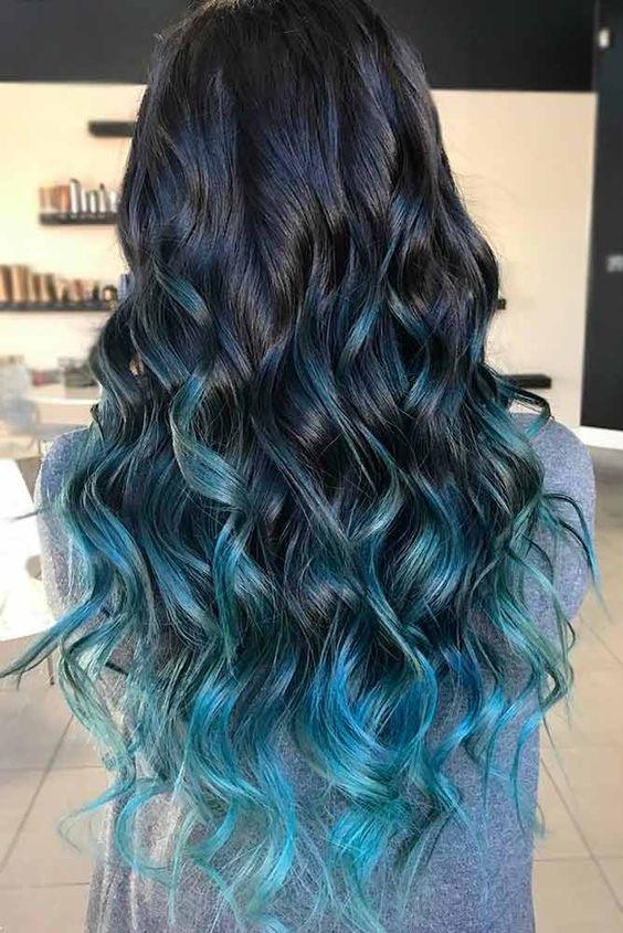 79 Dark Blue Hair Color For Ombre Teal Hair Styles Hair Highlights