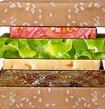 Cheeseburger Couture Gift Wrap: A Delicious Way To Wrap Your Gifts #Design