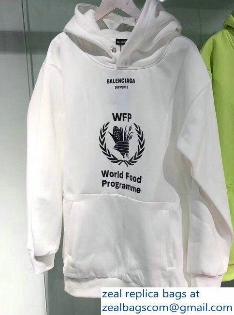 Balenciaga Supports World Food Programme Hoodie Sweater White 2018 Sweater Hoodie White Sweaters World Food Programme