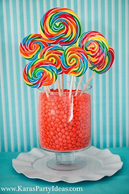 how fun are these! Cute centerpiece idea at a party! Kara's Party Ideas - THE place for all things party!