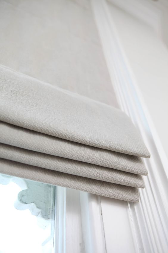 Grey roman and roman blinds on pinterest for Window cotton design