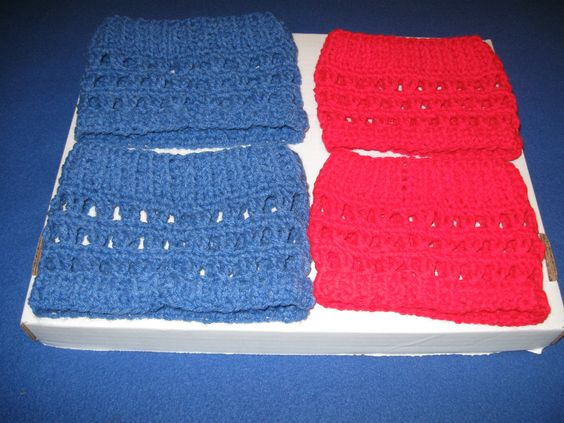 Crocheted boot toppers