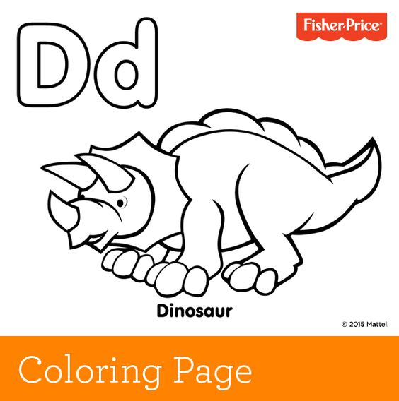 d is for dinosaur coloring pages - photo #14