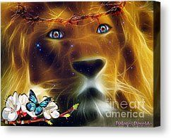 Eyes Of Fire Canvas Print by Dolores Develde