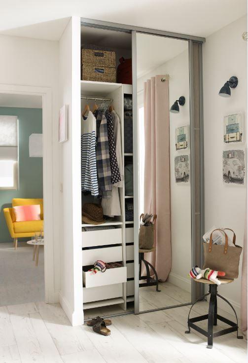 installez des portes coulissante miroir