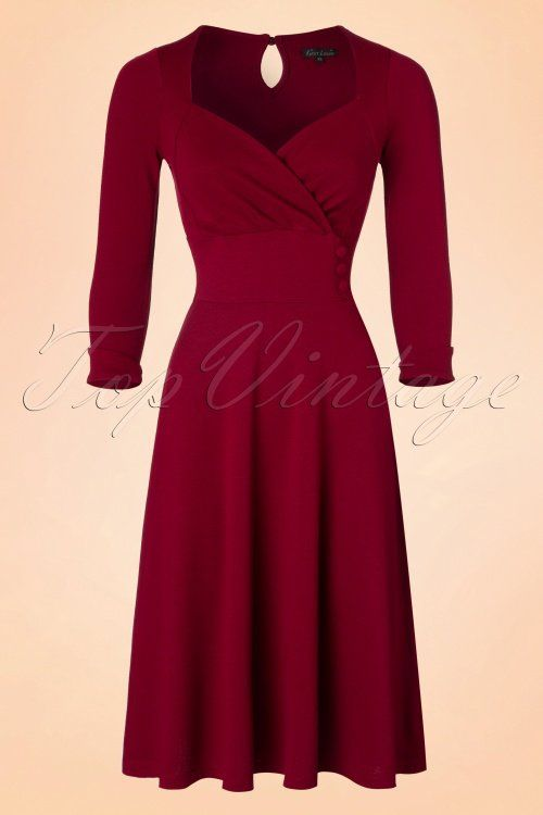 King Louie Isadora Dress Milano Crepe in Cherry Red 19365 20160712 0004a2