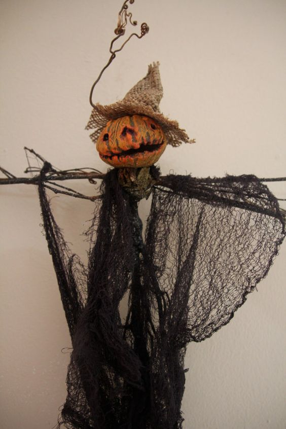 Primitive Scarecrow Doll by AlternateDimensions on Etsy, $50.00