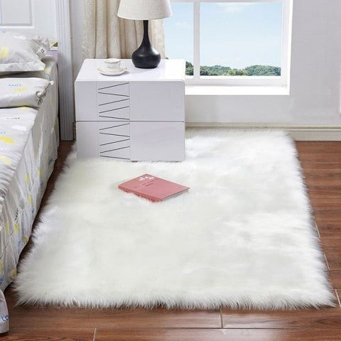 Australian Faux Wool Leather Sofa Carpet Mat Bedroom Long Blanket Use Code Rgbf1 Get 25 Off Discount Sweet And Bedroom Carpet Plush Carpet White Faux Fur Rug