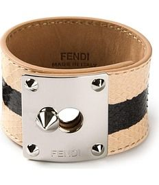 Fendi - Chunky striped bracelet