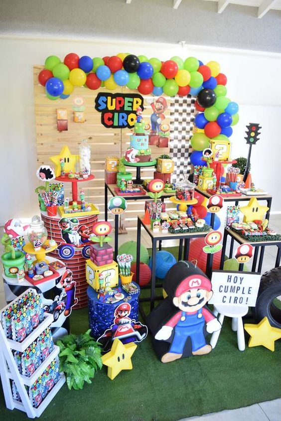 Decoracion De Fiesta De Mario Bros Baby Guía Para Su Decoración Hoy Aprenderás Las M Mario Bros Party Super Mario Bros Party Mario Bros Birthday Party Ideas