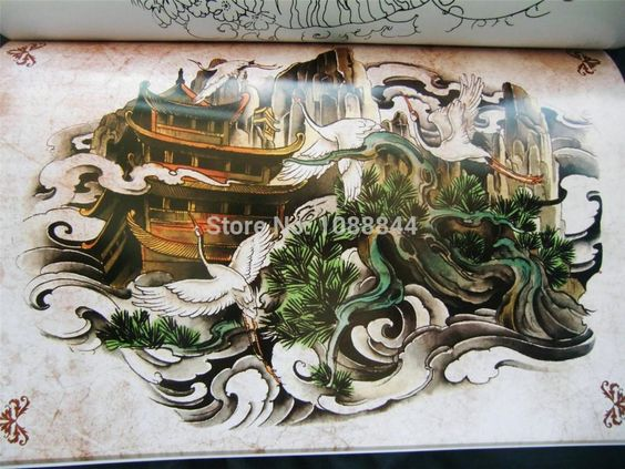 Aliexpress.com: Compre Estilo japonês tatuagem Flsh livro crânio Hannya Turtl buda flor do dragão do livro de confiança esboço adesivos fornecedores em Make World Beauty
