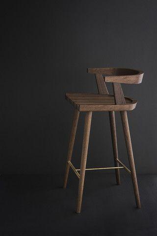 & KBH High Chair Fumed Oak | Stools