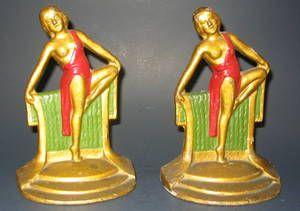 Art Deco Dancing Girls Bookends Price $495
