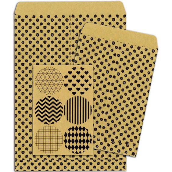BoBunny Kraft Gift Bags SCRIBBLE DOTS Six by SeptemberPlayground