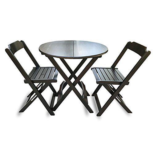 Primeway Decor Circular Folding Table Set 2 Chairs Decor Folding Table Chair
