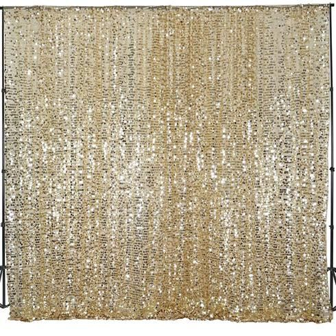 20ft X 10ft Champagne Big Payette Sequin Backdrop Curtain Sequin