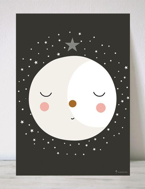 Lamina Infantil Luna Llena Luna Llena Dibujos De La Luna Papel Pintado Infantil