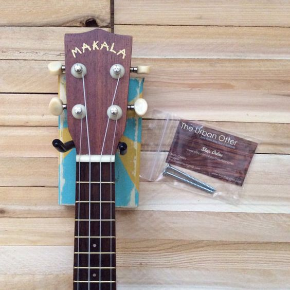 ukulele painted wood and wall mount on pinterest. Black Bedroom Furniture Sets. Home Design Ideas