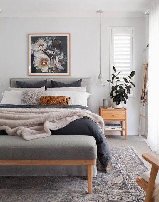 46 Cool Bedroom Tv Wall Design Ideas Scandinavianbedroom Because The Average Person Sleeps In 2020 Scandinavian Design Bedroom Master Bedrooms Decor Bedroom Interior