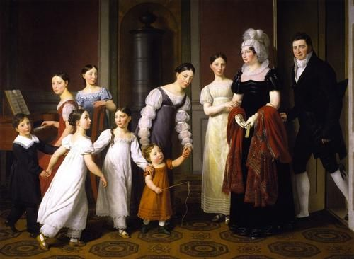 The Nathason Family by C W Eckersberg, 1818 Denmark, Statens Museum for Kunst