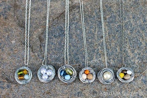 bird nest necklaces